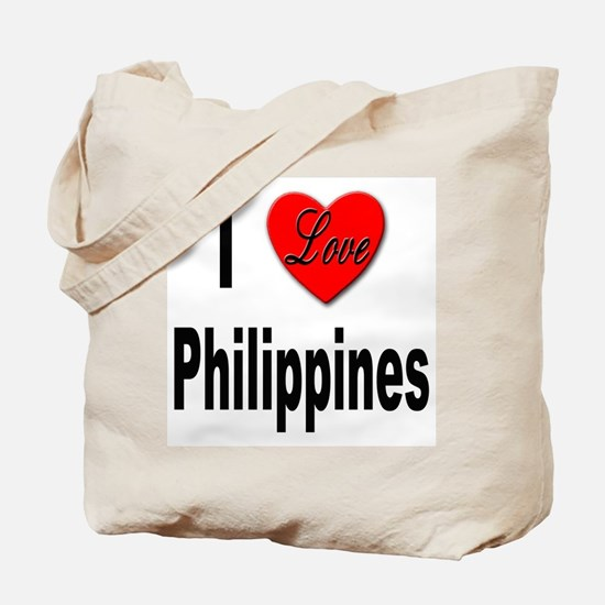 I Love Philippines Tote Bag