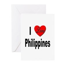 I Love Philippines Greeting Cards (Pk of 10)