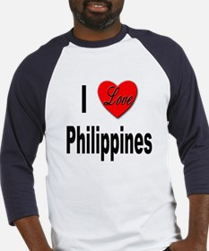 I Love Philippines (Front) Baseball Jersey