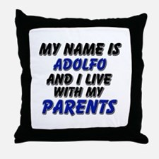 my name is adolfo and I live with my parents Throw