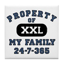 Property of Family Dad Tile Coaster