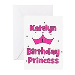 1st Birthday Princess Katelyn Greeting Cards (Pk o