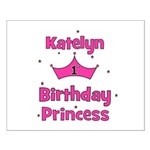 1st Birthday Princess Katelyn Small Poster