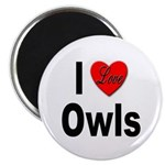 I Love Owls Magnet
