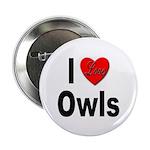 I Love Owls Button