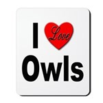 I Love Owls Mousepad
