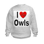 I Love Owls (Front) Kids Sweatshirt