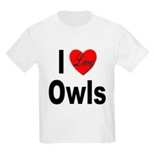 I Love Owls Kids T-Shirt