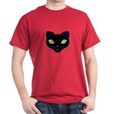 Night Cat Vector T-Shirt
