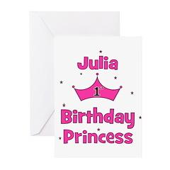 1st Birthday Princess Julia! Greeting Cards (Pk of