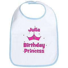 1st Birthday Princess Julia! Bib