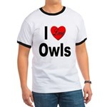 I Love Owls (Front) Ringer T