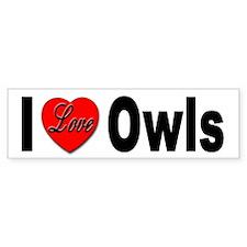I Love Owls Bumper Bumper Sticker