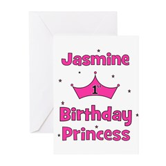 1st Birthday Princess Jasmine Greeting Cards (Pk o