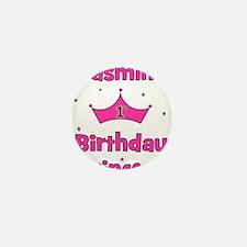 1st Birthday Princess Jasmine Mini Button