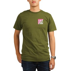 Gay Doesn't Go Away Organic Men's T-Shirt (dark)