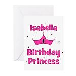 1st Birthday Princess Isabell Greeting Cards (Pk o