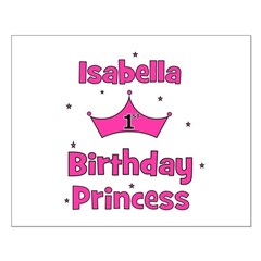 1st Birthday Princess Isabell Posters
