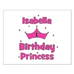 1st Birthday Princess Isabell Small Poster