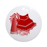 Cheerleading (Red) Ornament (Round)