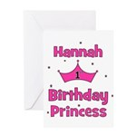1st Birthday Princess Hannah! Greeting Card