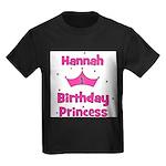 1st Birthday Princess Hannah! Kids Dark T-Shirt