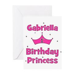 1st Birthday Princess Gabriel Greeting Card