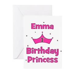 1st Birthday Princess Emma! Greeting Cards (Pk of