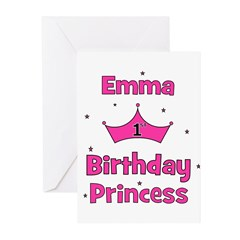 1st Birthday Princess Emma! Greeting Cards (Pk of