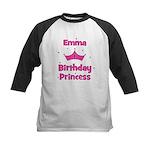 1st Birthday Princess Emma! Kids Baseball Jersey