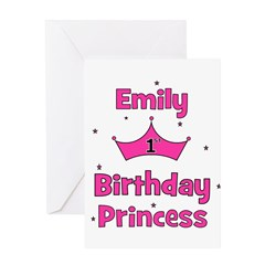 1st Birthday Princess Emily! Greeting Card