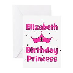 1st Birthday Princess Elizabe Greeting Cards (Pk o