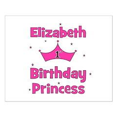 1st Birthday Princess Elizabe Posters