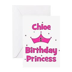 1st Birthday Princess Chloe! Greeting Card