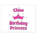 1st Birthday Princess Chloe! Small Poster