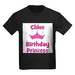 1st Birthday Princess Chloe! Kids Dark T-Shirt