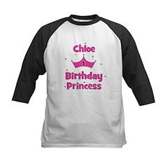 1st Birthday Princess Chloe! Kids Baseball Jersey