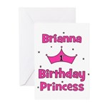 1st Birthday Princess Brianna Greeting Cards (Pk o