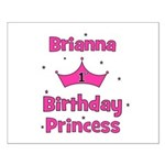 1st Birthday Princess Brianna Small Poster