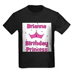 1st Birthday Princess Brianna Kids Dark T-Shirt