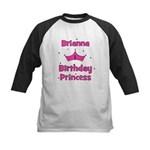 1st Birthday Princess Brianna Kids Baseball Jersey