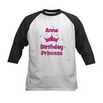 1st Birthday Princess Anna! Kids Baseball Jersey