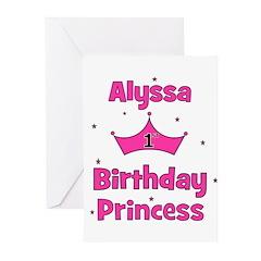 1st Birthday Princess Alyssa! Greeting Cards (Pk o