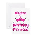 1st Birthday Princess Alyssa! Greeting Card