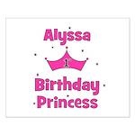 1st Birthday Princess Alyssa! Small Poster