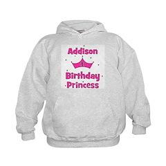 1st Birthday Princess Addison Kids Hoodie