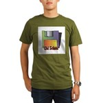 Old School Floppy Disk Organic Men's T-Shirt (dark