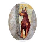 Doberman Oval Ornament