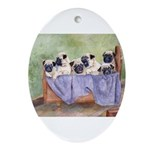 Pugs Oval Ornament