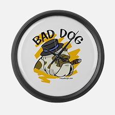 Bad Dog Large Wall Clock